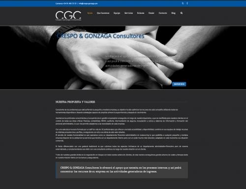 Nueva página web para Crespo Gonzaga Consultores